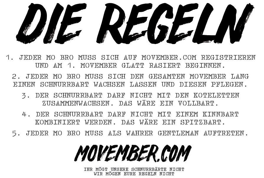 Die Regeln Für Den Movember