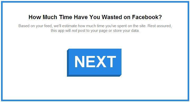 Wieviel Zeit verschwende ich auf Facebook?