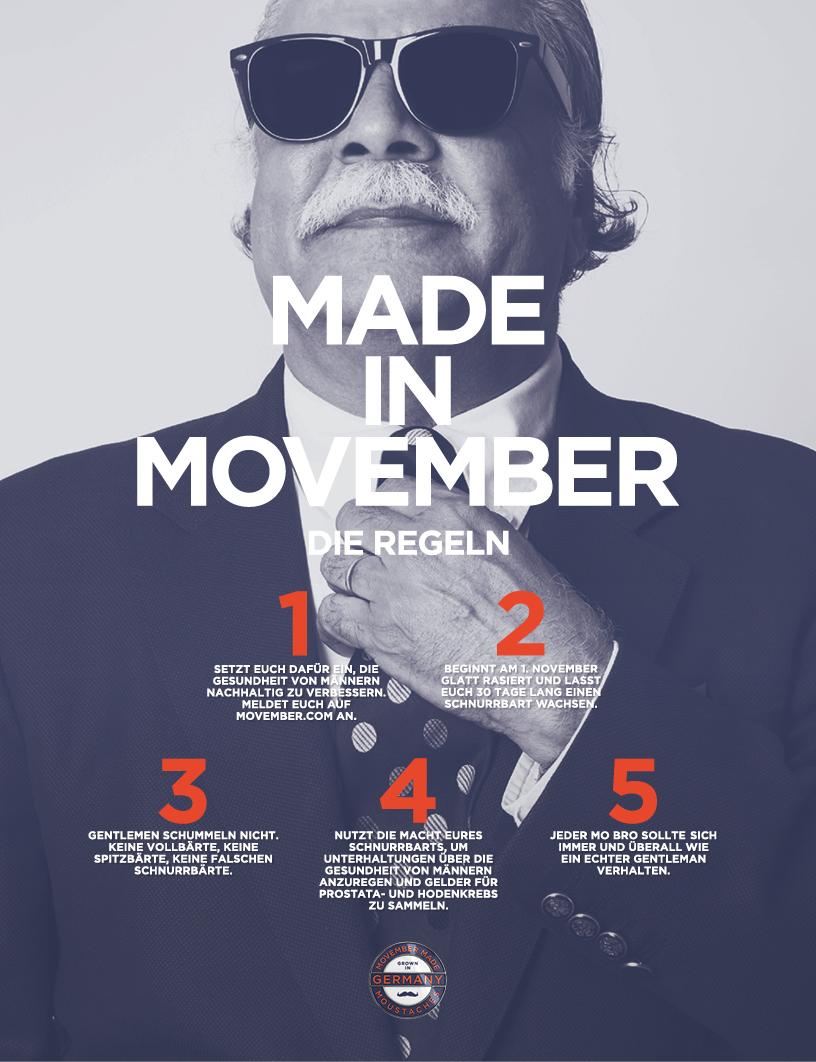 Movember 2014 Regeln