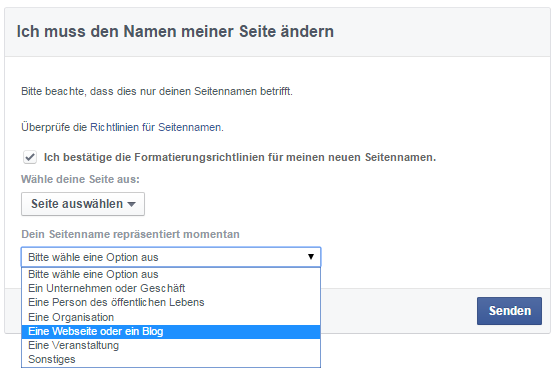 Facebook Namen ändern